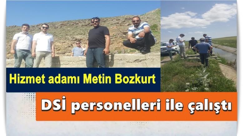 Başkan Bozkurt DSİ personelleri ile çalıştı