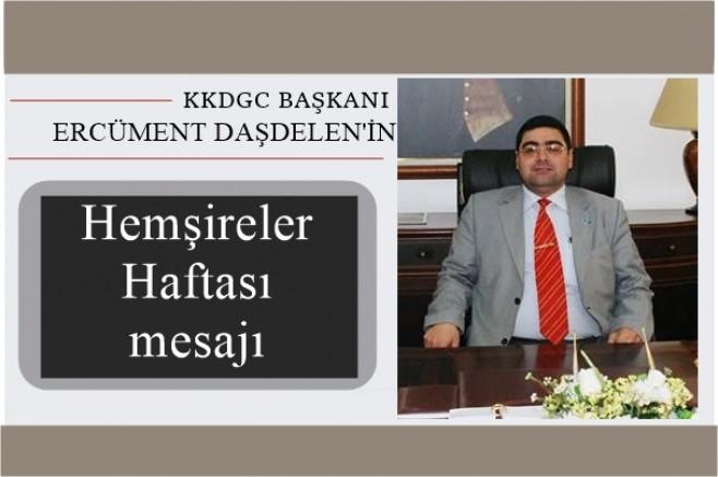 Başkan Ercüment Daşdelen'in Hemşireler Haftası mesajı