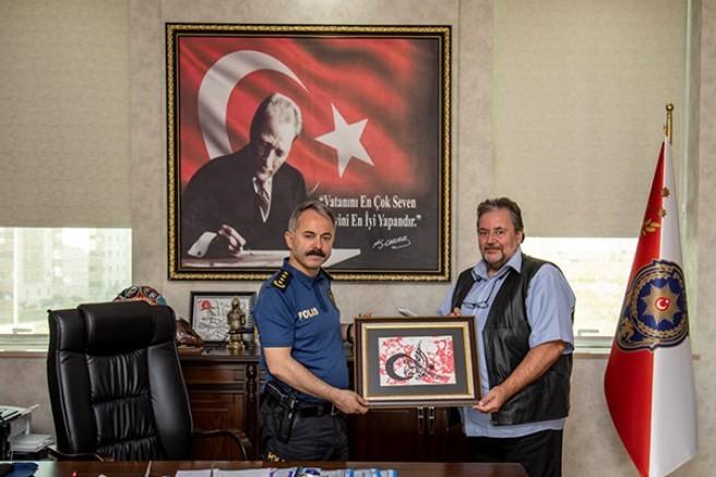 Bayburtluoğlu'ndan Emniyet Müdürü Ümit Bitirik'i ziyaret etti