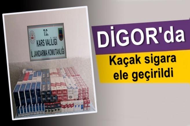 Digor'da kaçak sigara operasyonu