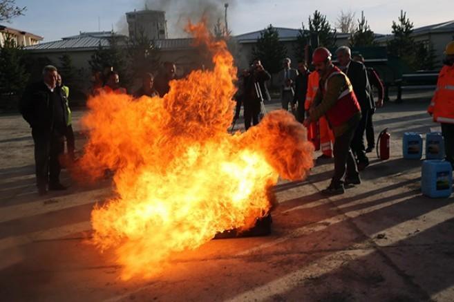 DSİ'de yangın tatbikatı gerçekleştirildi