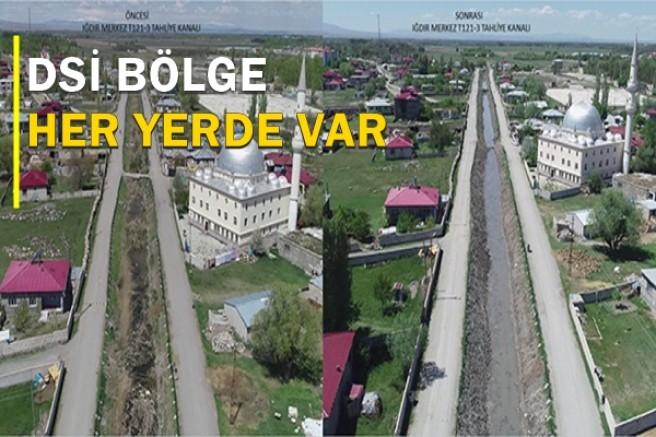 DSİ Kars Bölge, Iğdır şehir merkezinin kanallarını temizliyor
