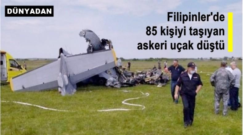 Filipinler'de 85 kişiyi taşıyan askeri uçak düştü