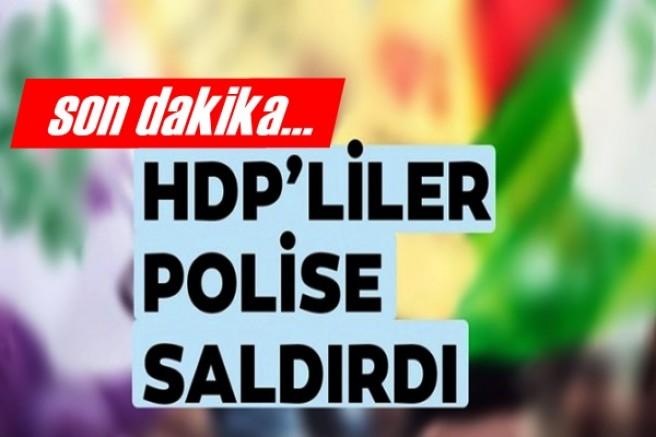 HDP'liler polise saldırdı