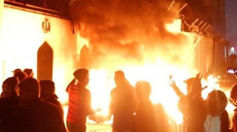 Irak'ta İran Başkonsolosluğu ikinci kez ateşe verildi