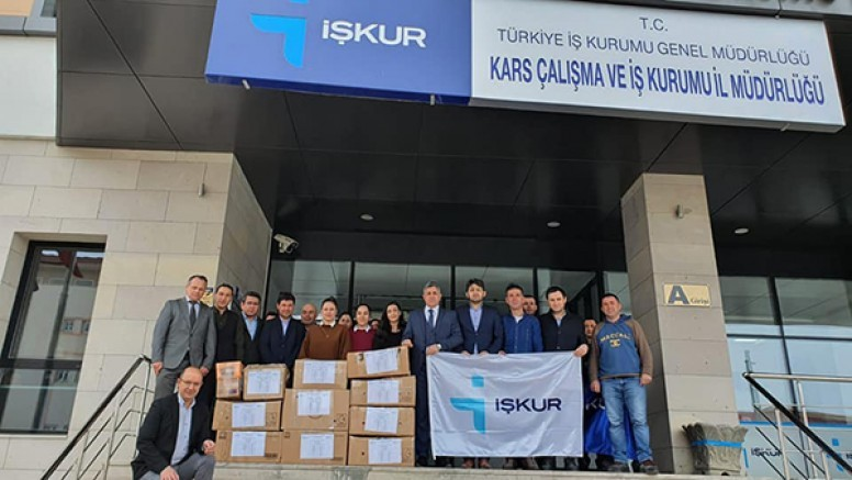 İŞKUR Kars İl Müdürlüğünden depremzedelere yardım