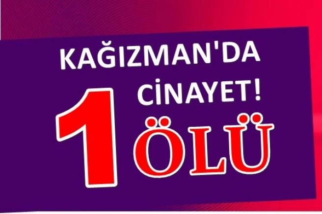 KAĞIZMAN'DA CİNAYET 1 KİŞİ ÖLDÜ