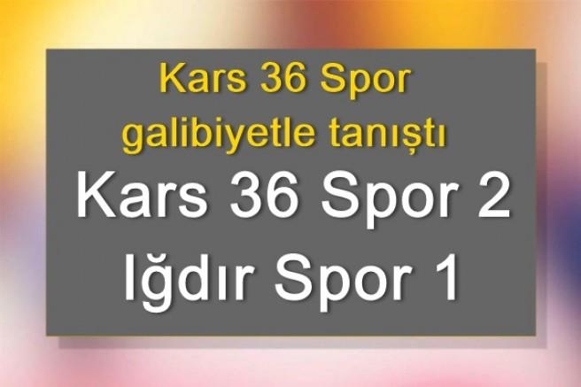 Kars 36 Spor 2 – Iğdır Spor 1