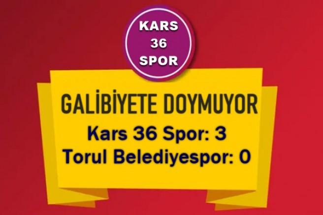 KARS 36 SPOR GALİBİYETE DOYMUYOR