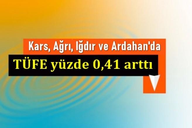 Kars, Ağrı, Iğdır ve Ardahan'da TÜFE yüzde 0,41 arttı