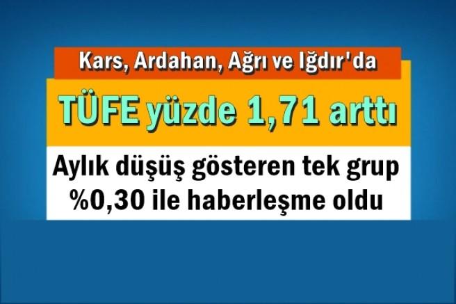 Kars, Ardahan, Ağrı ve Iğdır'da TÜFE yüzde 1,71 arttı