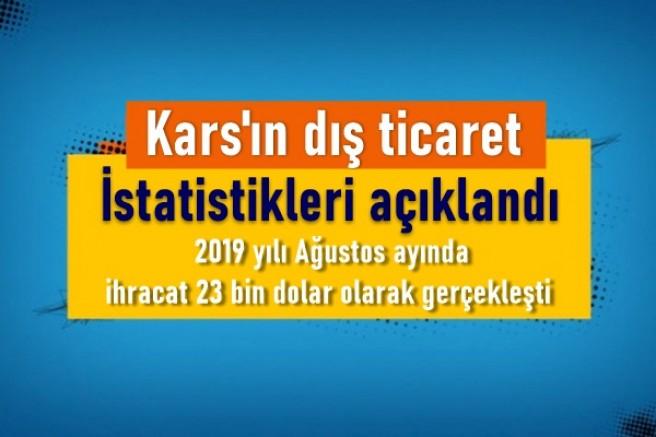 Kars'ın dış ticaret istatistikleri açıklandı