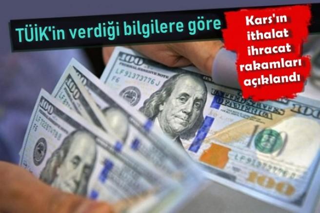 Kars'ın ithalat ihracat rakamları açıklandı