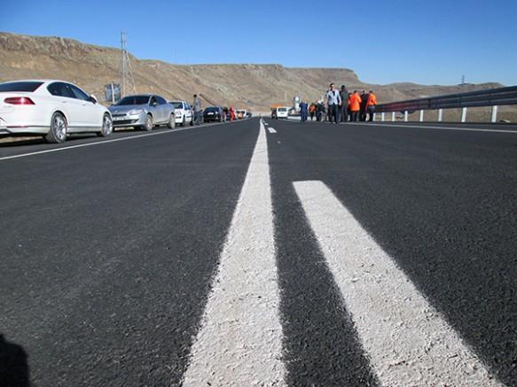 Kars Kağızman arasındaki yeni yol trafiğe açıldı