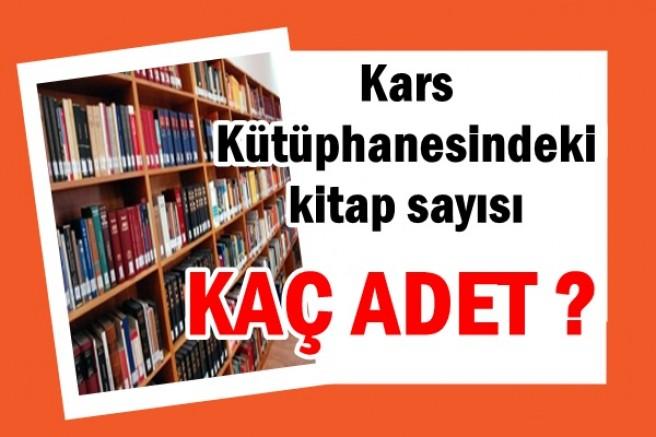 Kars Kütüphanesindeki kitap sayısı belli oldu