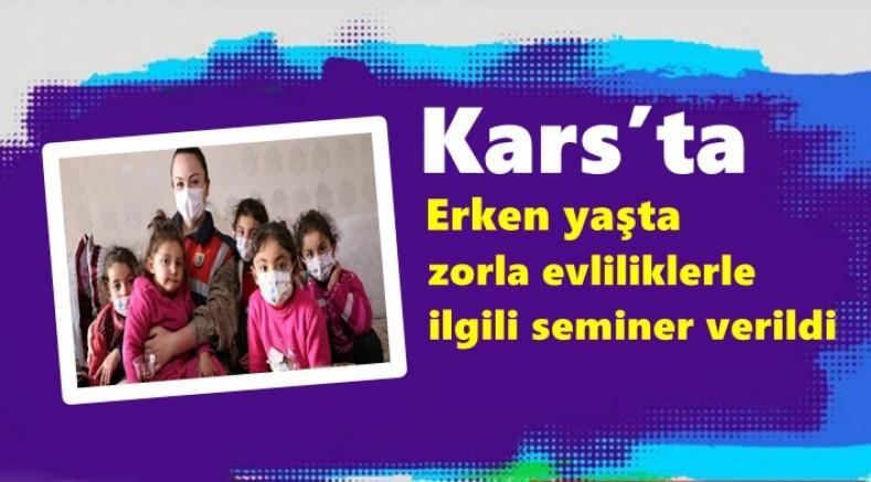 Kars'ta, erken yaşta zorla evliliklerle ilgili seminer verildi