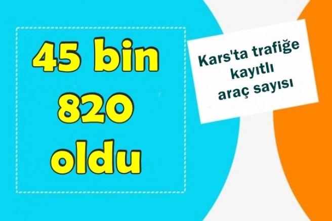 Kars'ta trafiğe kayıtlı araç sayısı 45 bin 820 oldu
