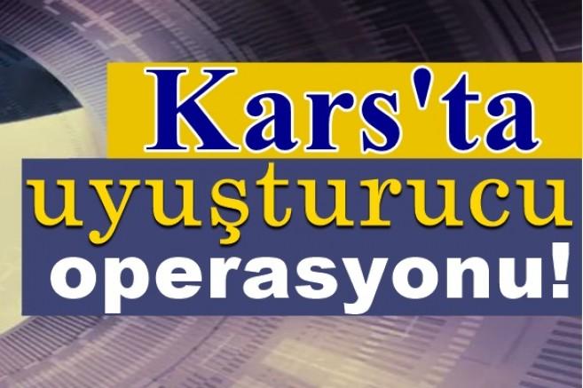 Kars'taki, uyuşturucu operasyonunda iki kişi tutuklandı