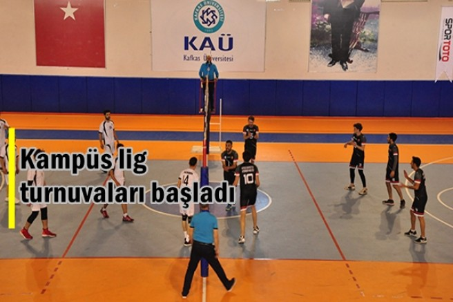 KAÜ'de kampüs lig turnuvaları başladı