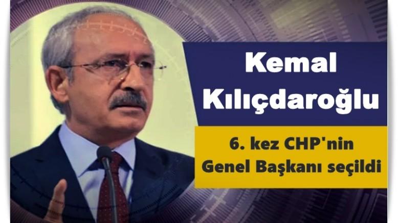 Kılıçdaroğlu, 6. kez CHP'nin Genel Başkanı seçildi