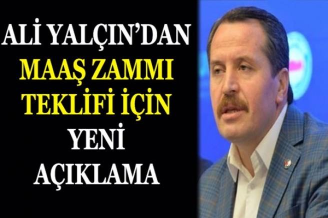 Memura maaş zammı teklifi için Ali Yalçın'dan yeni açıklama