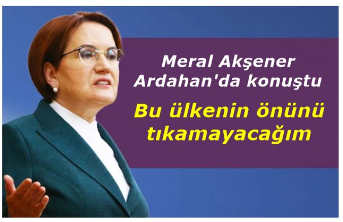 Meral Akşener: Bu ülkenin önünü tıkamayacağım