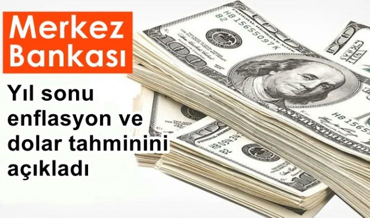 Merkez Bankası, yıl sonu enflasyon ve dolar tahminini açıkladı