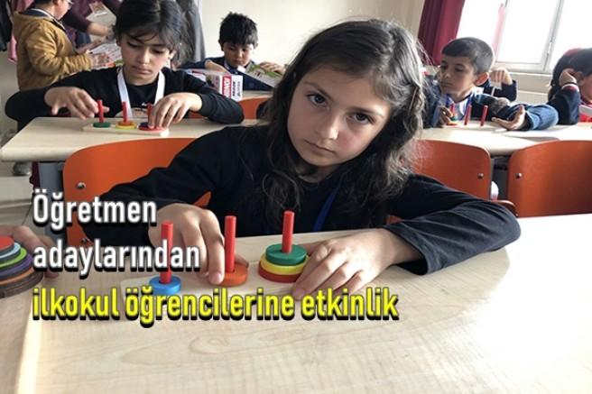 Öğretmen adaylarından ilkokul öğrencilerine etkinlik