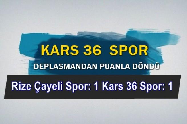 Rize Çayeli Spor: 1 Kars36 Spor: 1