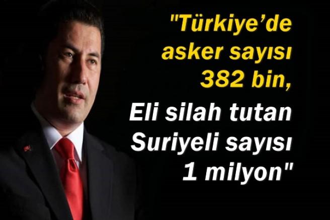 Sinan Oğan: Türkiye'de asker sayısı 382 bin, eli silah tutan Suriyeli sayısı 1 milyon