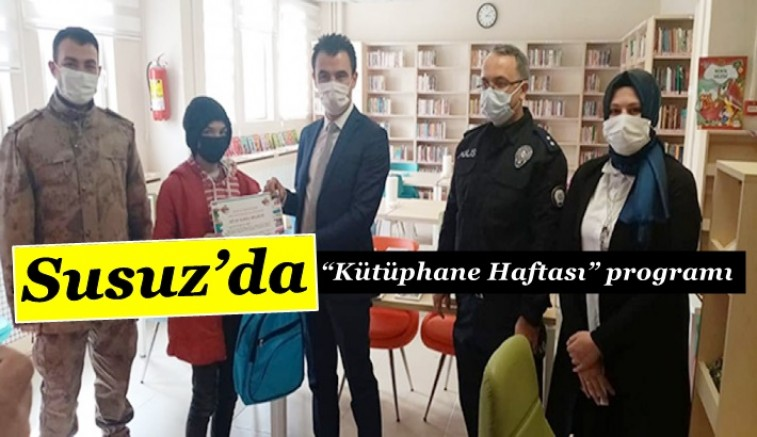 """Susuz'da """"Kütüphane Haftası"""" programı"""