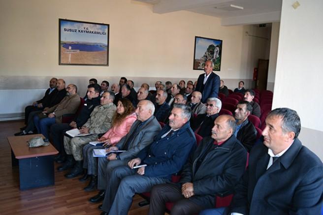 Susuz'da, Muhtarlar ve Halk Günü toplantısı yapıldı